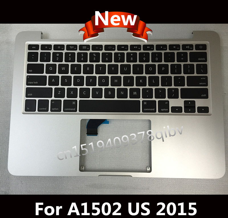 New For Macbook Pro 13 3 Retina A1502 Topcase Palmrest Top case with US keyboard no