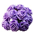 New Brand 16 Colors 10 Heads Artificial Rose Flowers Wedding Bride Bouquet PE Foam DIY Home Decor Rose Flowers Free Shipping