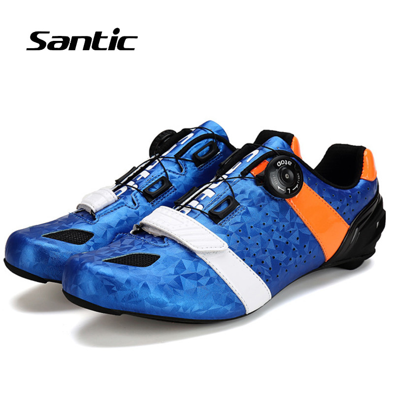 Santic 2018 Road Cycling font b Shoes b font Men Ultralight Carbon Fiber Road Bike font