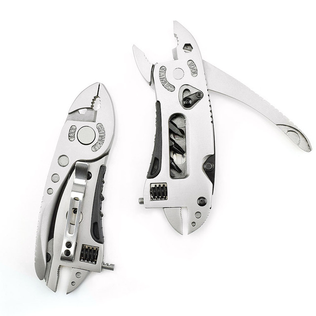 Outdoor Multitool Pliers Pocket Knife Screwdriver Set Kit Adjustable Wrench Jaw Spanner Repair Survival Hand Multi Tools Mini
