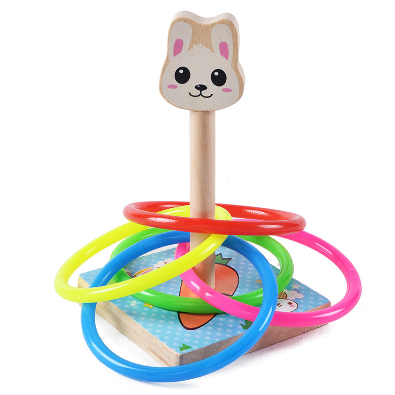 For Kids Outdoor Fun and Cute Sports Cast Ring Ferrule Throwing Game Parent-child Interaction Classic Indoor Outdoor Toy
