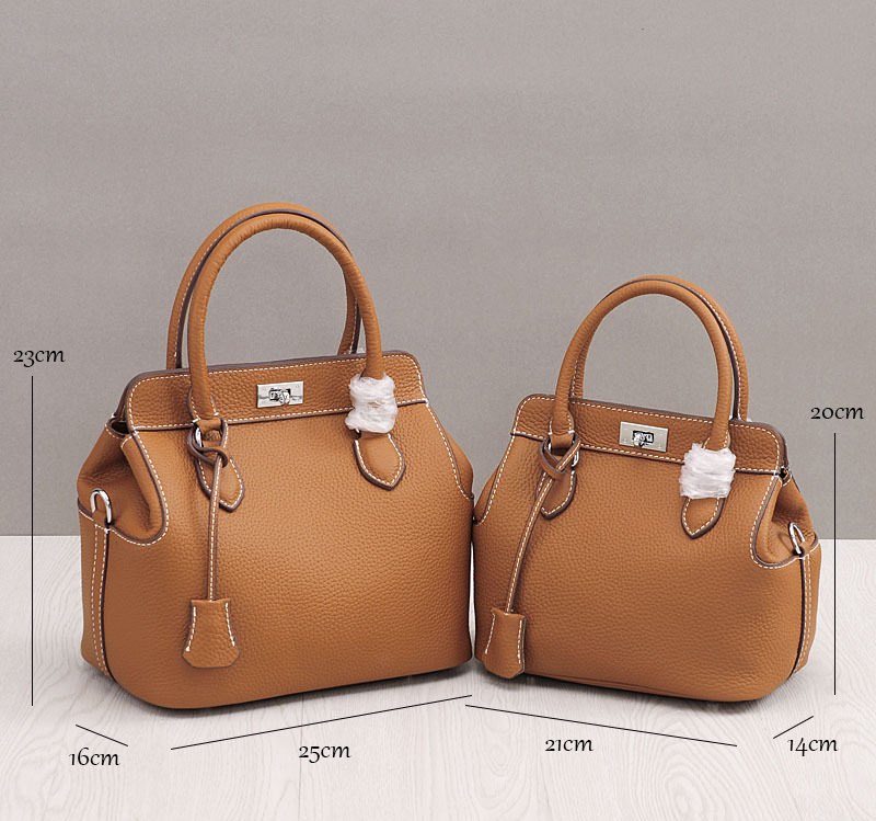 2 Size Designer Classic Small Tote Popular Women Genuine Leather Handbags Ladies Bag Messenger Bags For Female An776