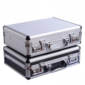 Portable Password Toolbox Multi-function Suitcase Storage Case Aluminum Alloy Safety Instrument Equipment Case With Sponge