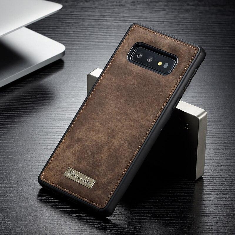 D'origine CaseMe Magnétique Vintage En Cuir et étui arrière souple en silicone or polyuréthane thermoplastique étui pour samsung Galaxy S10 Plus S10e coques de téléphone S10 5G