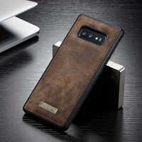 Funda trasera de silicona Original CaseMe magnética Vintage de cuero y TPU suave para Samsung Galaxy S10 Plus S10e s10 5G