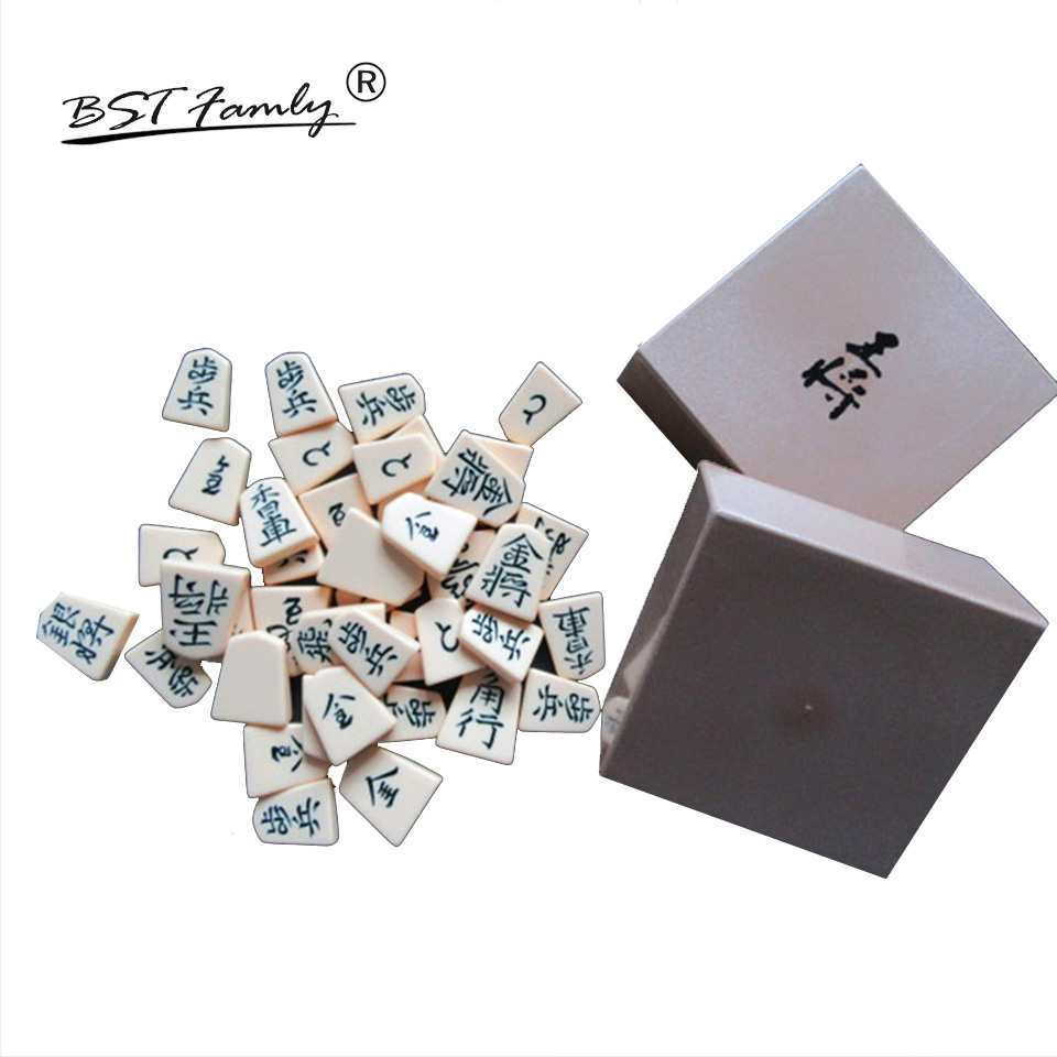 BSTFAMLY Organic Japan Shogi 27*25*5cm 40 Pcs/Set International Checkers Folding Sho-gi Chess Game Table Toy Gift Children JA01 foldable magnetic folding shogi set boxed portable japanese chess game sho gi exercise logical thinking 25 25 2 cm