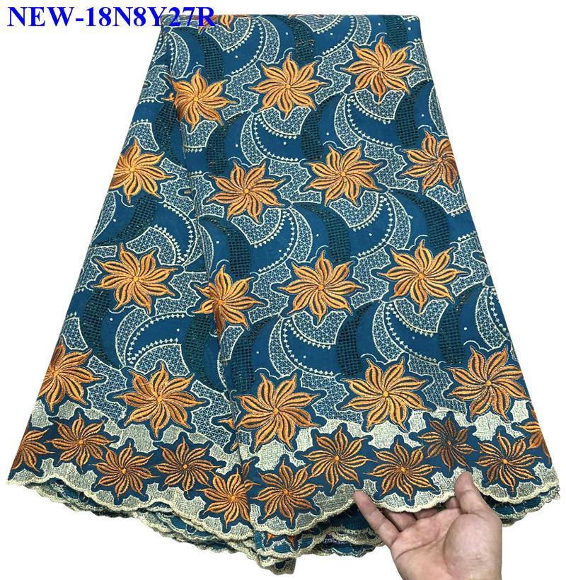 Green Nigerian Lace Fabrics 2018 African Swiss Voile Lace High Quality Swiss Voile Lace in Switzerland
