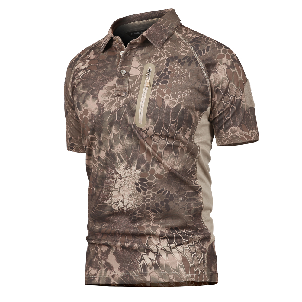 b6d62adc0b2a Men s Tactical Military Polo Shirt Summer Army Force Camouflage Polo for Man  Coolmax Breathable Pocket Short Sleeve Polo Shirt-in Polo from Men s  Clothing ...