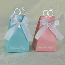 Casamento 500 шт. голубой бриллиант обручальное кольцо пользу Коробки коробка конфет Свадьба сувениры и подарки Событие и Партия поставки