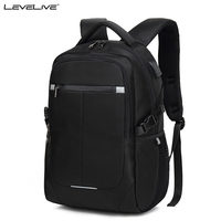 New LeveLive Large Capacity Backpack USB Charge Men Women Waterproof 15 6 Laptop Backpacks Trip Bag