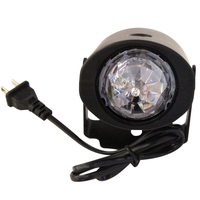 5pcs Mini Stage Lighting Moving Head Laser Projector Effect Color LED Crystal Voice Activated RGB Light