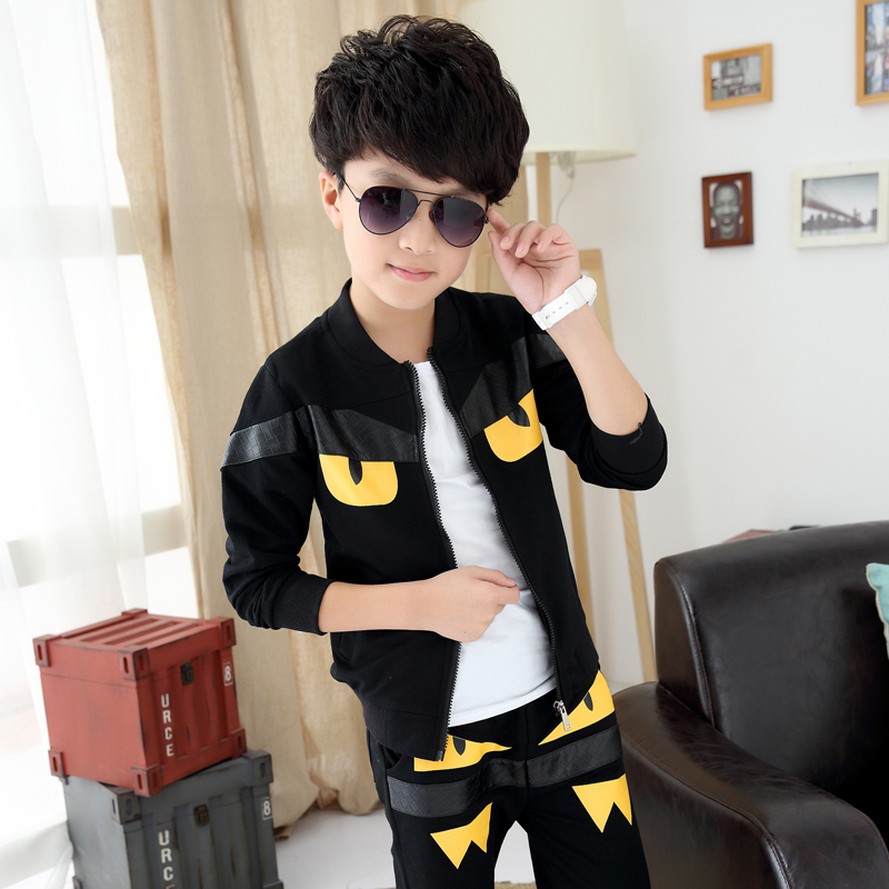 Children young boys Suits Clothing Boy cartoon Monster Sports set 6-14Y Years Kids 2pcs Sets Spring Autumn Clothes Tracksuits spiderman children boys suits clothing baby boy spider man sports set 3 12 years kids 2pcs sets spring autumn clothes tracksuits
