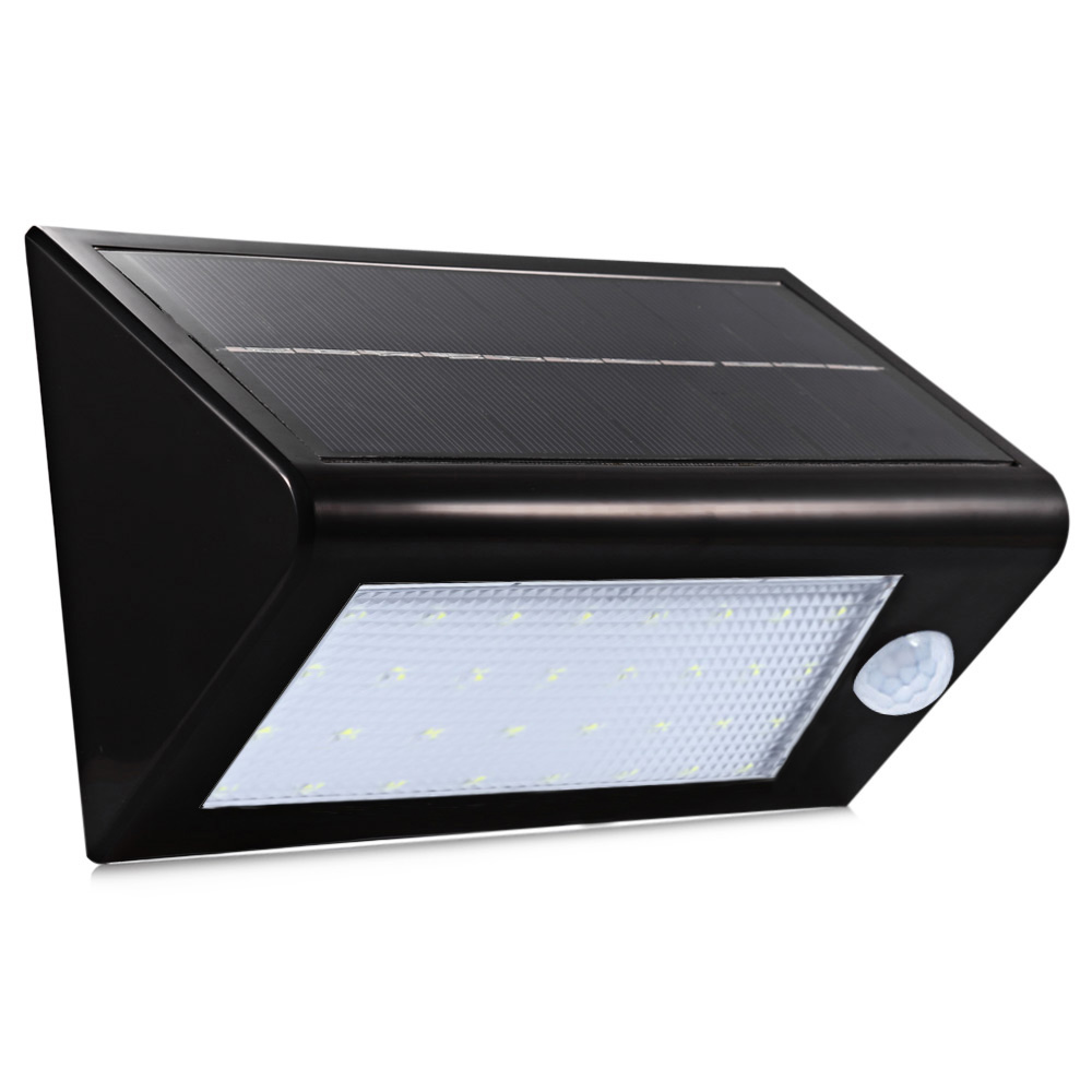 Solar Powered LED Wall Lamp Waterproof Motion Detector Door Lights With Human Body Induction Function Outdoor