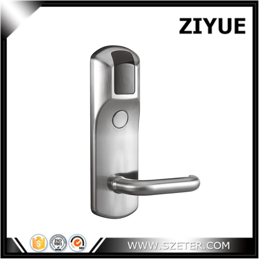 Hotel Lock Electronic Hotel Card Reader Door Handle Lock with Software ET800RF