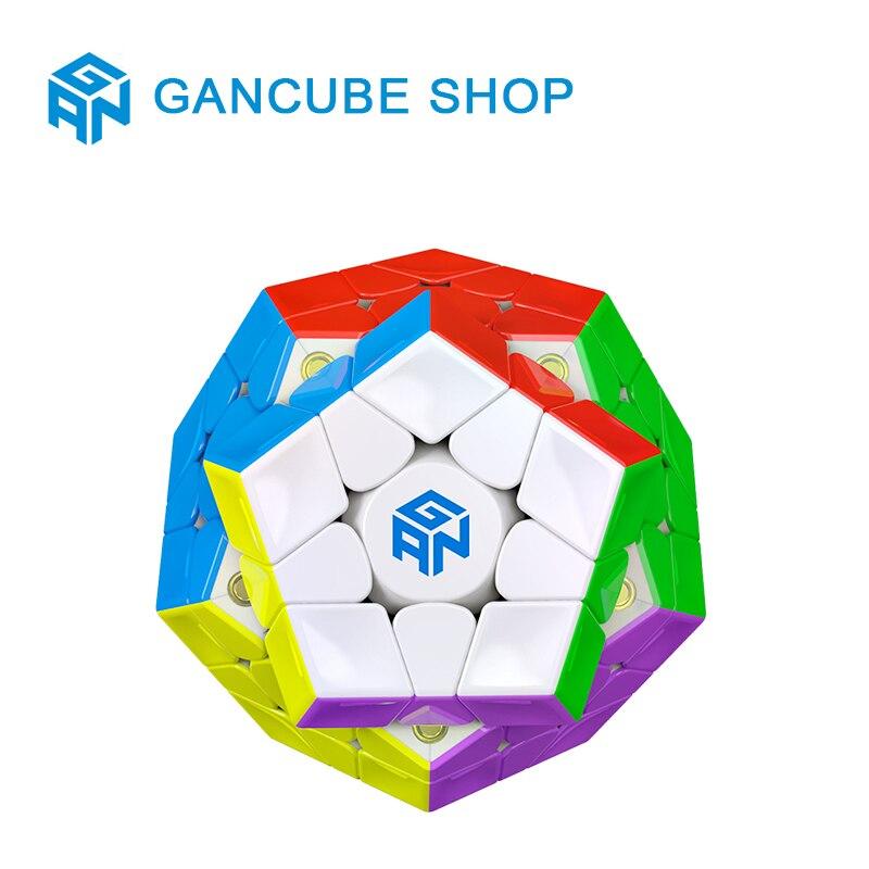 GAN 3x3x3 magnétique Megaminxeds Magic Speed Cube aimants professionnels sans colle 12 côtés Puzzle Cube jouets éducatifs pour enfant