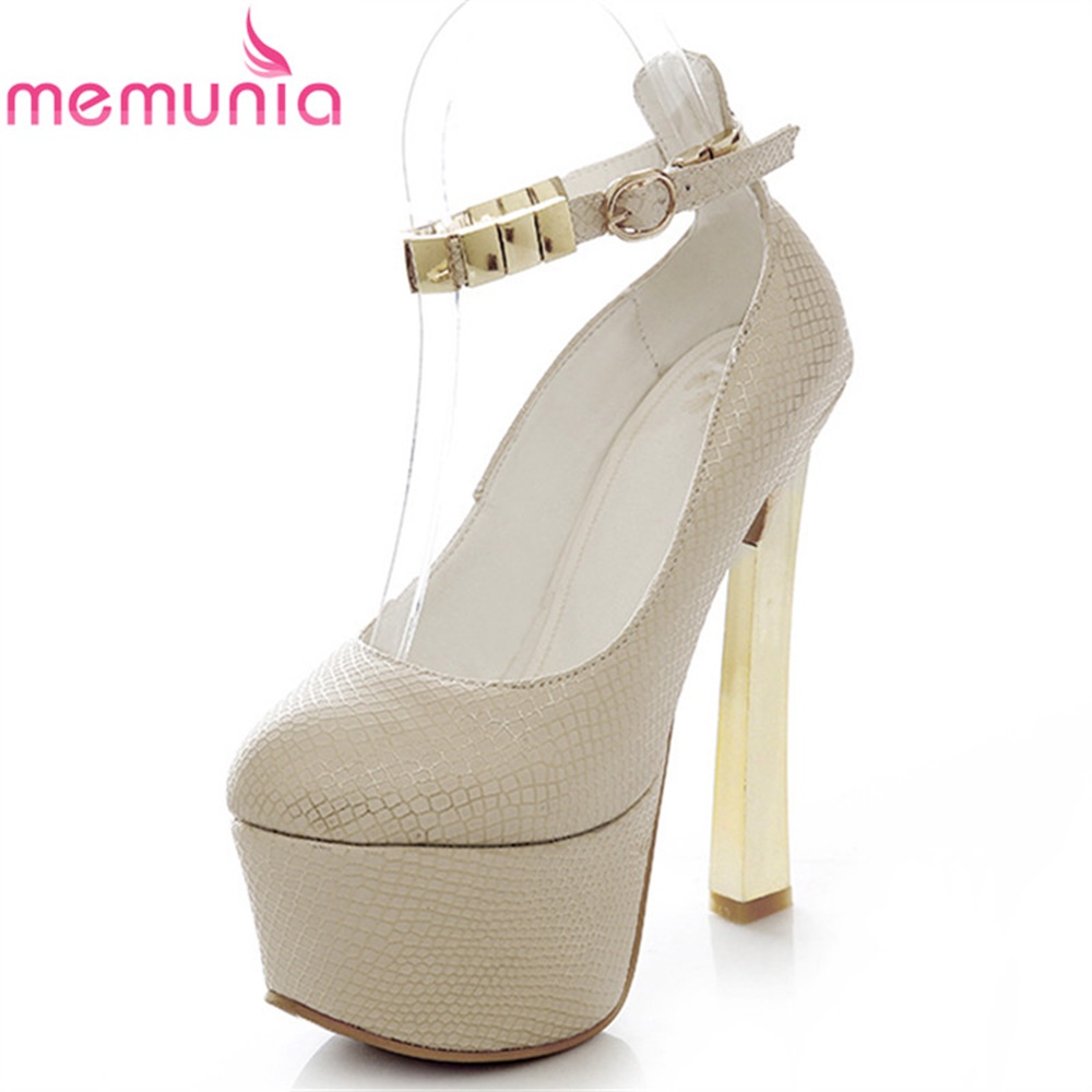 MEMUNIA ladies pumps women shoes spring autumn summer bridal shoes high quality dashion metal decorayion  wedding shoes memunia spring autumn ladies pumps women
