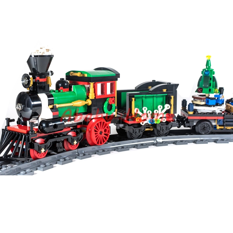IN Stock Lepin 36001 Winter Holiday Train Building Bricks Blocks New year Gift Toys for Children Boy educational 10254 on stock new super thomas small train electric track car boy puzzle large car racing for children s christmas gift kids toys