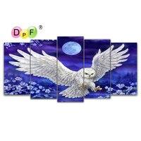 DPF diamant stickerei White owl diamant malerei cros stich handwerk diamant mosaik kit voll platz hand home decor