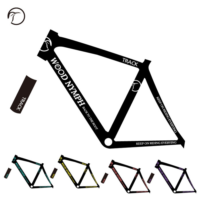 New Wood Nymph Road Bike Sticker In Bicycle Frame Decals
