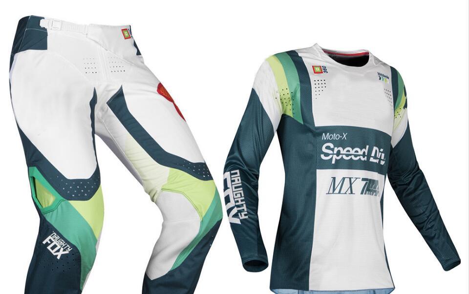2019 vilain Fox MX 360 Murc vert Jersey pantalon Motocross Dirt bike hors route course hommes équipement ensemble