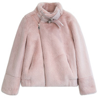 Wholesale Fashion Faux Mink Fur Jacket