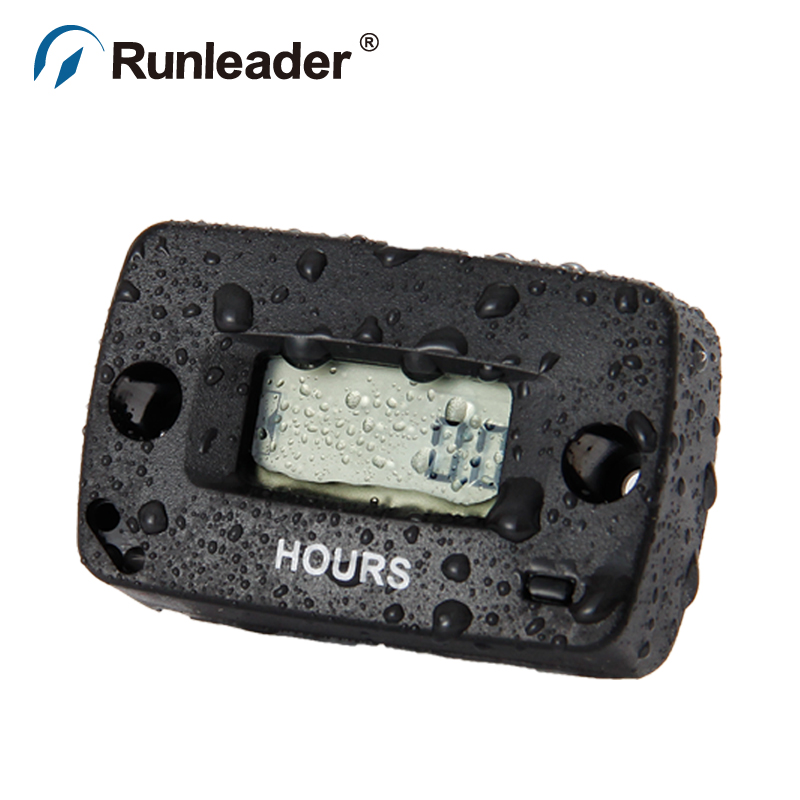 RL-HM018 Hour Meter for Gasoline petrol Engine pit bike motocross Marine ATV Motorcycle jet boat jet ski dirt bike