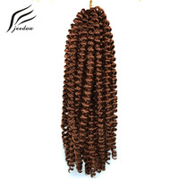 Jeedou Synthetic Spring Twist Crochet Braid 8inch 20cm 20strands Pack 100g Braiding Hair Black Brown Burgundy