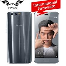 D'origine Huawei Honor 9 Mobile Téléphone 4G LTE 5.15 «Kirin 960 Octa Core 6 GB RAM 64 GB ROM Double Arrière 1920*1080 P D'empreintes Digitales NFC