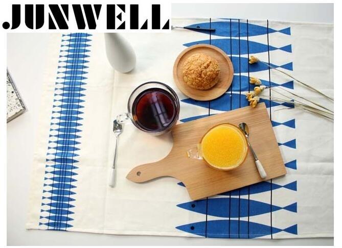 2pcs / lot 46X70cm Posteljina / Pamuk Riba Ispis Dishtowel Kuhinjske krpe za čišćenje krpe Tea Ručnik Ultra trajan pano de prato
