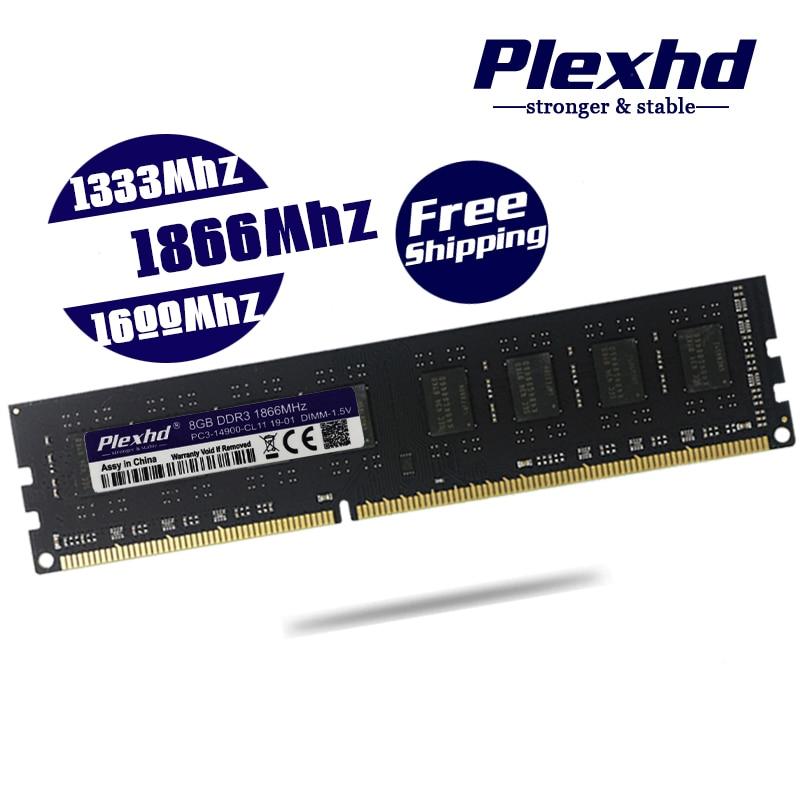 DDR3 8GB 4GB 2GB PC3 1333 1600 1866 1333MHZ 1600MHZ 1866MHZ 12800 14900 2G 4G 8G PC Memory RAM Memoria Module Computer Desktop|RAMs|   - AliExpress