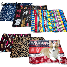 Flannel Cotton Pet Dog Bed Mats for Small Medium Large Dogs Winter Warm Soft Basket Blankets Lounger Puppy Cat Cushion