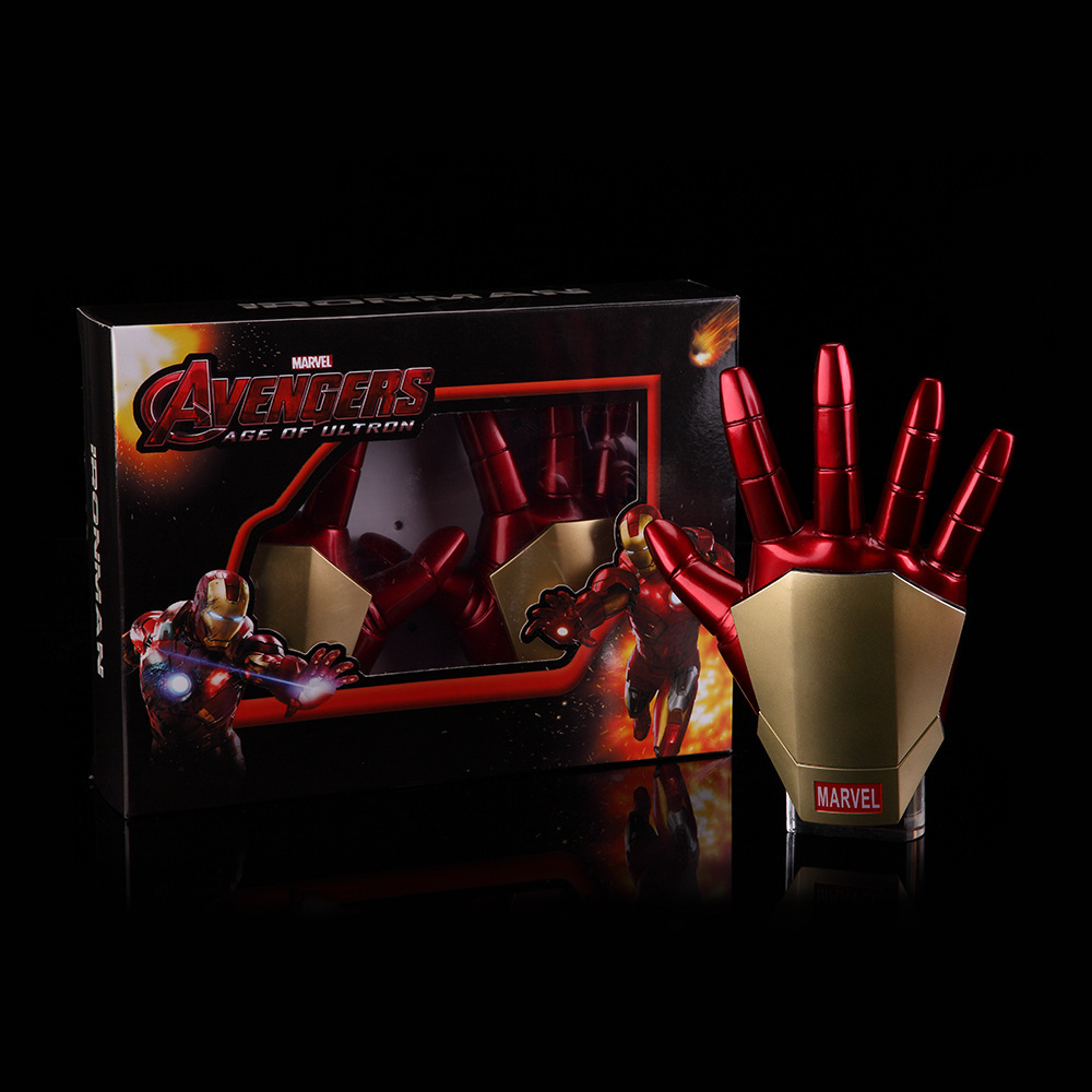 HKXZM Movie Figure 21CM 2PCS/SET Iron Man Gloves With LED Light PVC Action Figures Collectible Model ToyHKXZM Movie Figure 21CM 2PCS/SET Iron Man Gloves With LED Light PVC Action Figures Collectible Model Toy