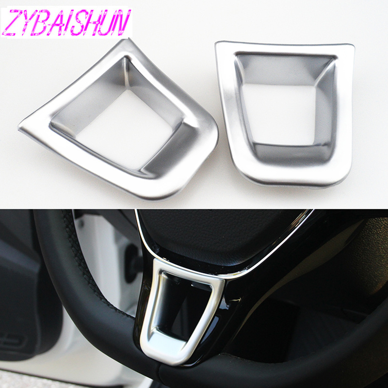 Car Design  Matt Steering Wheel Spangles Cover For VW Golf 7 Jetta MK5 MK6 2015 Men's Polo 2014-2015 Passat B7 2015 B8 Accessory