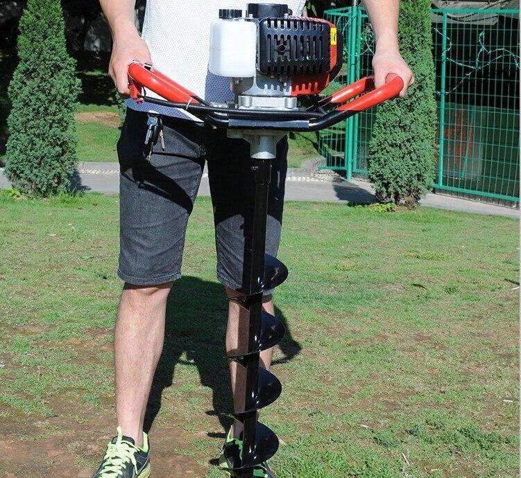 Professional 52CC грунт дрель Земляной Бур отверстие Digger садовые инструменты посадки машины фермы шнека сельскохозяйственная дрель культиватор
