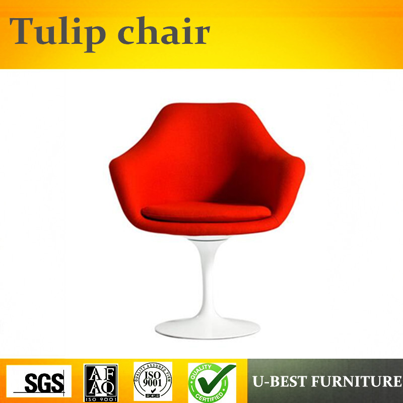 U-BEST classic style replica plastic tulip chair/ tulip bedroom chair / tulip arm chair with fabric u best modern fiberglass bar chair dining chairs with fabric cushion designer classic tulip dining chair