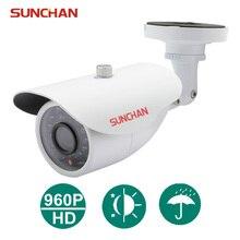 SunChan High Quality AHD Camera Color CMOS 1500TVL 1.3MP 24 IR LED Night Vision Waterproof Camera Outdoor CCTV Camera w/Bracket