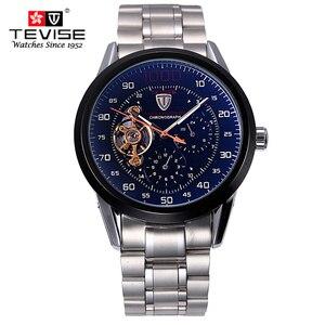 Image 3 - Herren uhren top brand luxus TEVISE Automatische Wicklung Tourbillon Mechanische Uhr Sport Militär Relogio Automatico Masculino