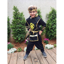 יום הולדת דרקון Ninja תלבושות קוספליי לוחם תלבושות ילדים בני בנות ילדי סייף חליפת תלבושות