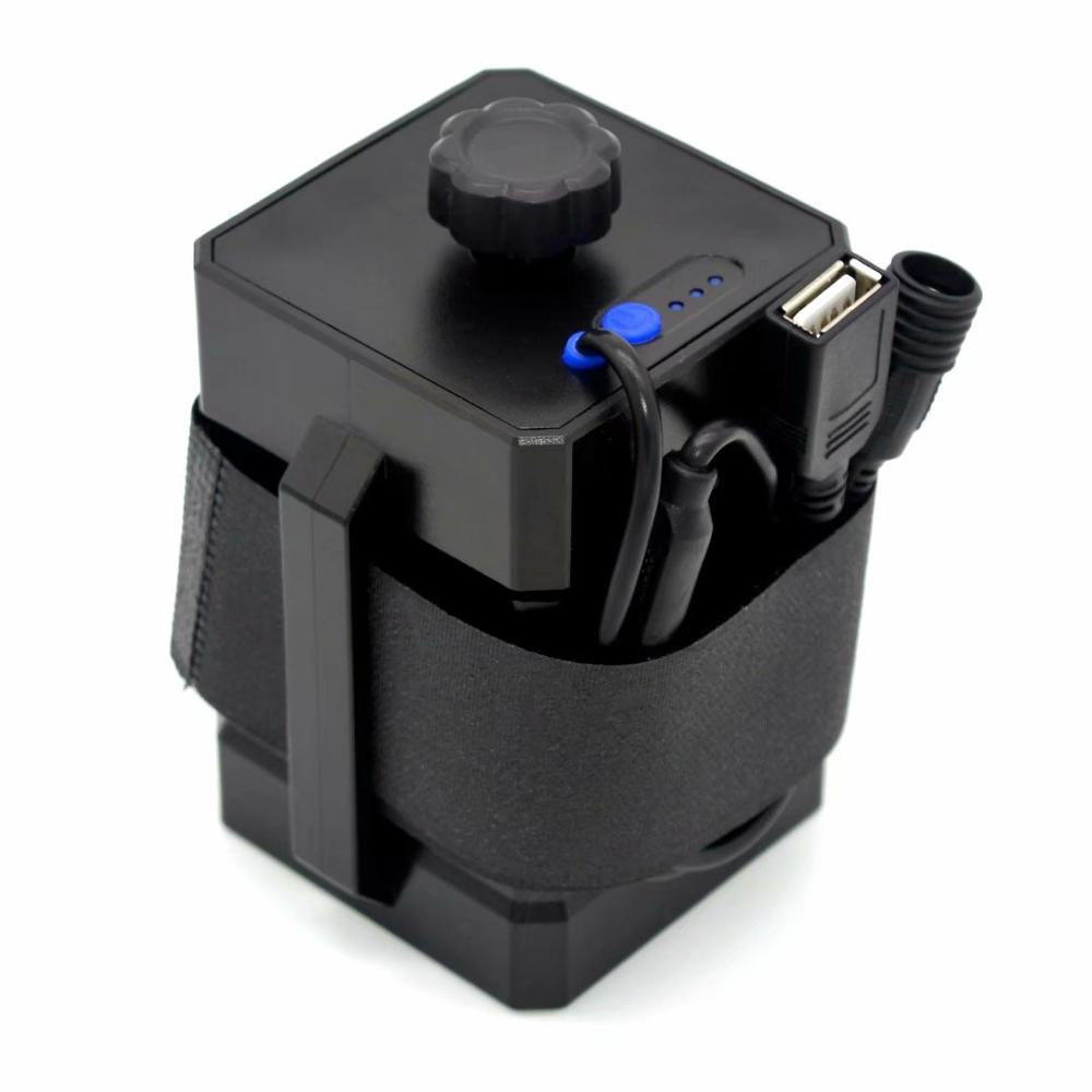Waterproof 3x18650/26650 Battery Pack Charger Power Box 12.6V USB 5V Output For Headlight Bicycle Light Mobile Phone