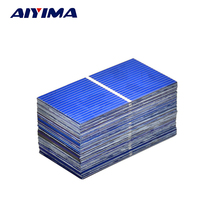 AIYIMA 100pcs Solar Panel Polycrystalline Silicon solar module 52x26mm DIY 0.25W 0.5V Photovoltaic Panel DIY Home Solar Sistem