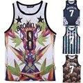 Moda Brooklyn 7 Estrela Nova Iorque Colete Homem Brookltn 00 Biggie Hip Hop Tops camisa Do Tigre Tanque Floral Top Para homens