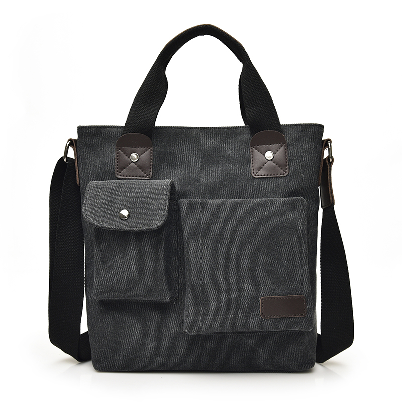 2018 Business Canvas Handbags Fashion Men's Briefcase Vintage Single Shoulder Bags High Quality Shoulder Bags Handbags For Men