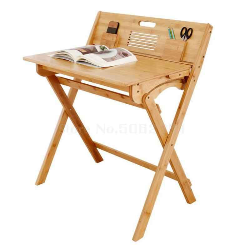 Juego de mesa y silla de aprendizaje para estudiantes de primaria escritorio y escritorio plegable de madera maciza para el hogar
