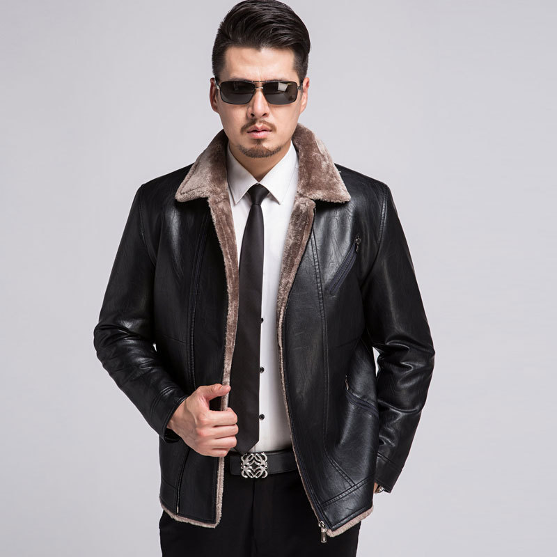 2017 Autumn And Winter New High quality Casual Fashion font b Men s b font Fur