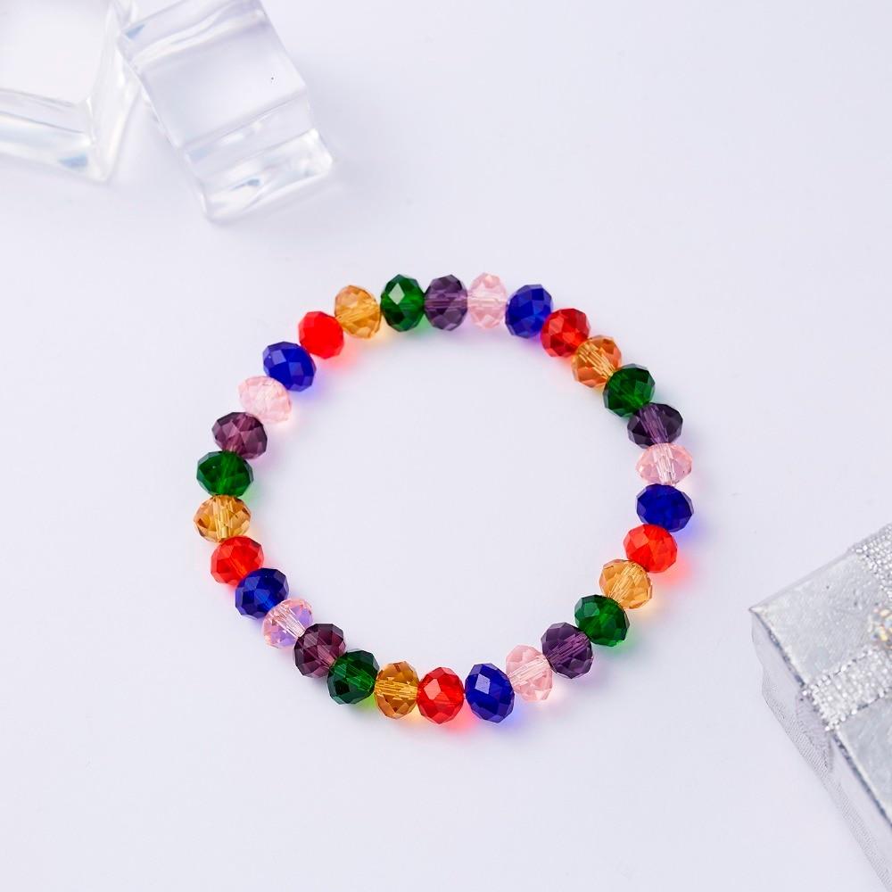 3e1efadeac12 Compre Pulsera De Cristal Para Las Mujeres Cuentas De Colores ...