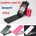 Высокое Качество Новые Оригинальные Для Lenovo K910 Кожаный Case Откидная Крышка для Lenovo K 910 Case Крышка Телефона В Наличии
