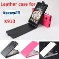 Alta qualidade new original para lenovo k910 leather case capa flip para lenovo k 910 case tampa do telefone em estoque