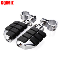 Chrome Motorcycle Highway Foot Peg Footrests With 32mm Footpeg Clamp For Harley