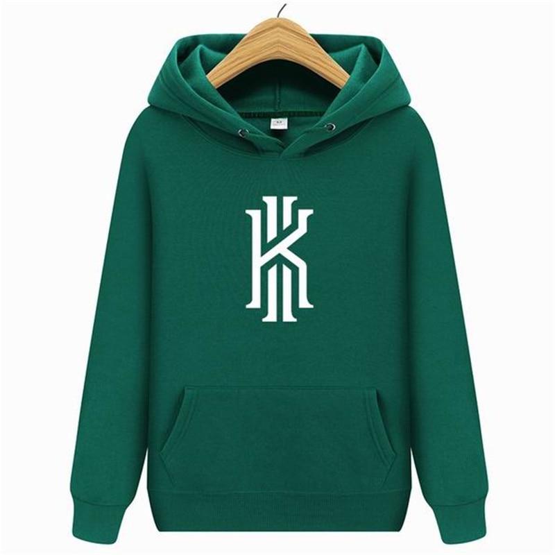 2019 New Men's Hoodie Hip Hop Men's Hooded Streetwear And Sweatshirt Hoody Kyrie Irving Letter Printed Hooded Pullover