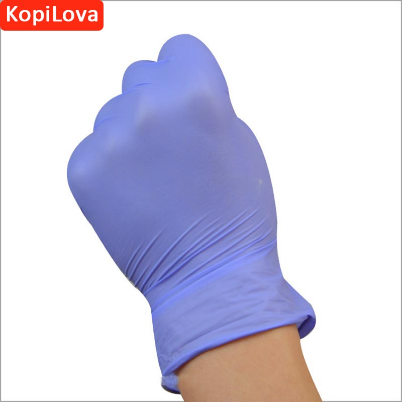 KopiLova Purple Disposable Nitrile Gloves 100 pcs/lot Anti-slip Antistatic Household Gloves for Finger Protection Free Shipping 3 sizes high quality 100pcs a lot extra strong medical purple powder free nitrile disposable gloves click butyronitrile color